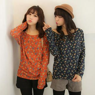 Tokyo Fashion - Long-Sleeve Patterned Top