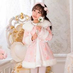 Candy Rain - Kids Floral Long Coat