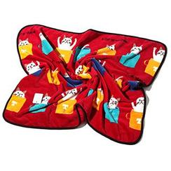 Shibu - 猫咪印花珊瑚绒毛毯
