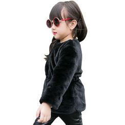 Lemony dudu - Kids Faux Fur Zip Jacket