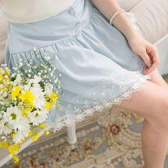 Tokyo Fashion - Lace Trim A-Line Skirt