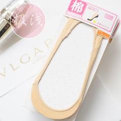 櫻桃兔兔 - 純色防滑隱形船襪