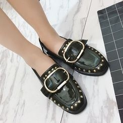 MANMANNI - 鉚釘飾扣帶樂福鞋