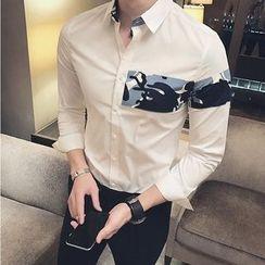 Orizzon - Long-Sleeve Camouflage Panel Shirt
