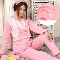 Kream - Pajama Set: Nursery Fleece-Lined Top + Pants