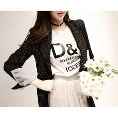 Marlangrouge - Dotted Single-Breasted Blazer