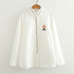 ninna nanna - 長袖刺繡襯衣