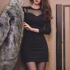 Aurora - Cutout-Front Sheath Dress
