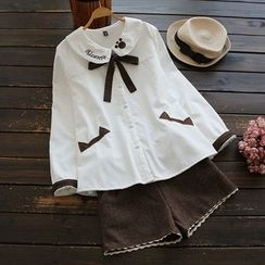 YOYO - Fleece-Lined Embroidery Shirt