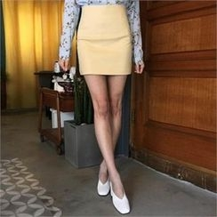 QNIGIRLS - High-Waist Mini Skirt