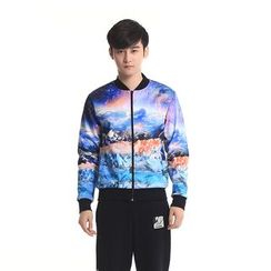 HappyTee - Printed Couple Zip Jacket