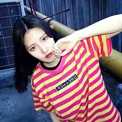 Melon Juice - Short-Sleeve Striped T-Shirt