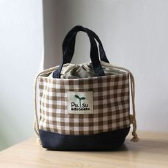 Ms Bean - Plaid Canvas Lunch Bag