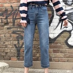 Miss Kekeli - 高腰直筒牛仔裤