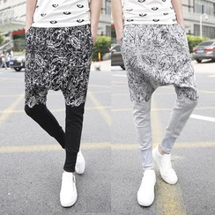 Bay Go Mall - Print Harem Pants
