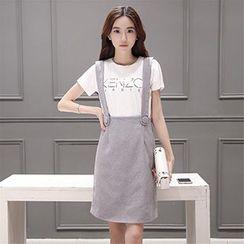 Ashlee - Set: Short-Sleeve T-shirt + Jumper Skirt