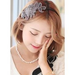 kitsch island - Corsage Beaded-Accent Hair Band