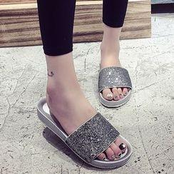 BAYO - 亮面一字涼鞋