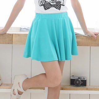 CatWorld - Elastic-Waist A-Line Skirt