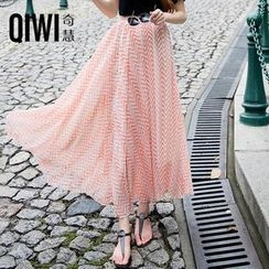 QIWI - Patterned A-Line Maxi Skirt