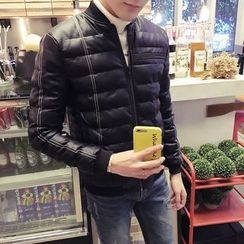 ZONZO - Faux Leather Padded Jacket