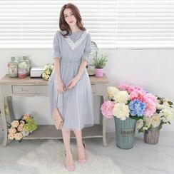 Tokyo Fashion - Lace-Panel Maxi Dress