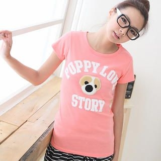 CatWorld - Puppy Appliqué T-Shirt