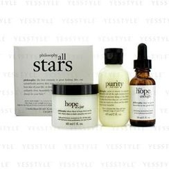 Philosophy - All Stars Kit: Purity Made Simple Cleanser 60ml/2oz + When Hope Is Not Enough Serum 30ml/1oz + Hope In A Jar 60ml/2oz