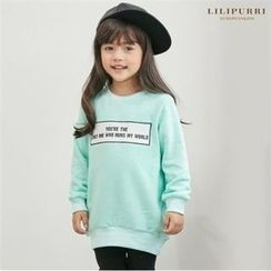 LILIPURRI - Kids Lettering Long Sweatshirt