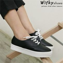Wifky - Faux-Leather Sneakers
