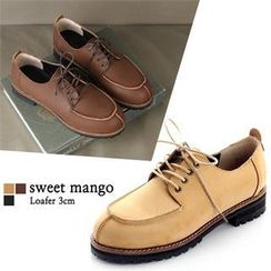 SWEET MANGO - Faux-Leather Oxford Flats