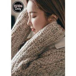 Chlo.D.Manon - V-Neck Dual-Pocket Mélange Sweater