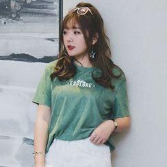 KASA - 人造麂皮短袖T恤