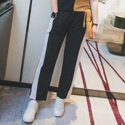 KASA - 拼接寬身褲