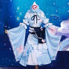 Coshome - Touhou Project Saigyouji Yuyuko Cosplay Costume