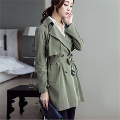ode' - Loose-Fit Trench Coat
