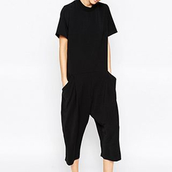 Obel - Short-Sleeve Cropped Jumpsuit