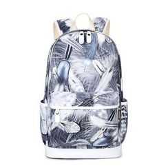 VIVA - Feather Print Backpack