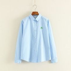 Mushi - Clover Embroidered Gingham Shirt