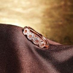 Zundiao - Sterling Silver Rhinestone Ring
