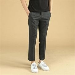 THE COVER - Band-Waist Flat-Front Pants