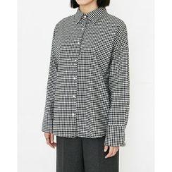 Someday, if - Dolman-Sleeve Gingham Shirt