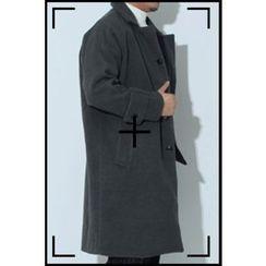 Ohkkage - Raglan-Sleeve Wool Blend Coat
