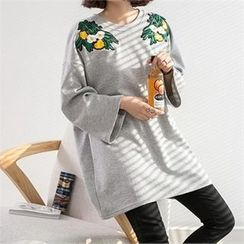 PEPER - Appliqué Long T-Shirt