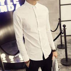 Flambeau - 纯色长袖衬衫