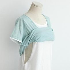 Maternity Basic - Maternity Cotton Layered T-Shirt