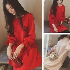 lilygirl - 3/4-Sleeve A-Line Dress