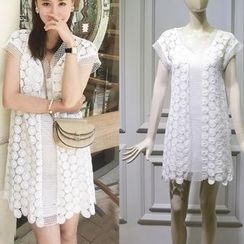 JOYIST - Short-Sleeve Crochet Tunic