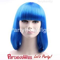 Party Wigs - PartyBobWigs - 派對BOB款中長假髮 - 藍色