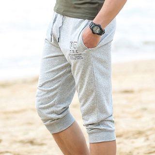 MaxBlue - 七分字母運動褲